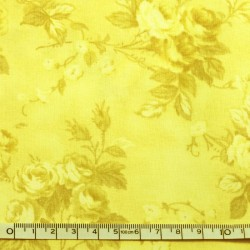 Yellow printed fabric - 50cm