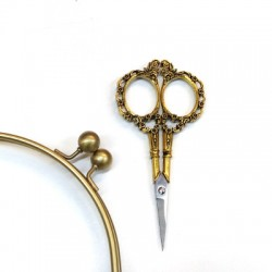 Sewing scissors gold