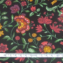 Black printed fabric - 50cm