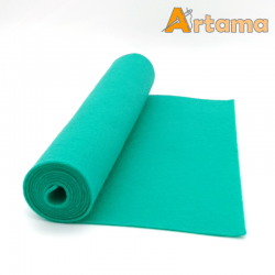 rollo de fieltro 100% lana en color mint 20x80cm