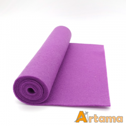 Light purple wool thin felt - 20x80cm