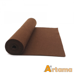 Brown wool thin felt - 20x80cm