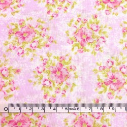 Pink printed fabric - 50cm