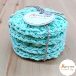4 mint reusable ecological cleaning discs