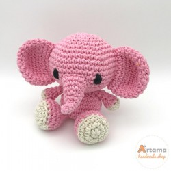 Pink Elephant doll - Amigurumi - Plush animal