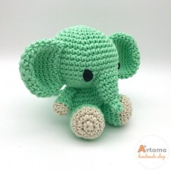 Mint Elephant doll - Amigurumi - Plush animal
