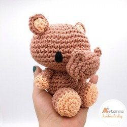 Hippopotamus doll - Amigurumi - Plush animal