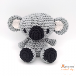 Grey Koala doll - Amigurumi - Plush animal