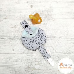 Grey and blue Koalas keep pacifier and bag