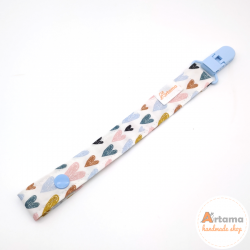 Painted hearts pacifier holder