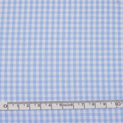 Blue gingham fabric - 50cm