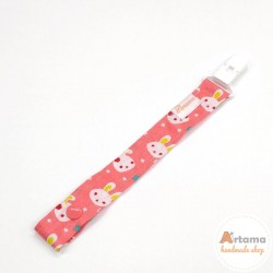 Kitty pink pacifier holder
