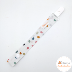 Colored dots pacifier holder
