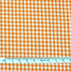 Orange gingham fabric - 50cm