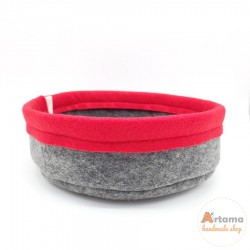 Red felt Basket