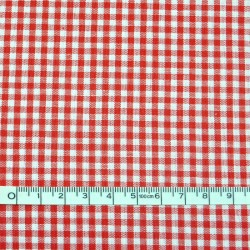 Red gingham fabric - 50cm