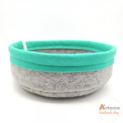 Mint felt basket