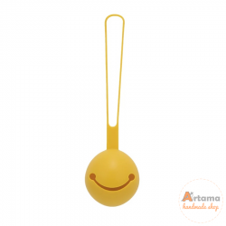Mustard silicone pacifier holder