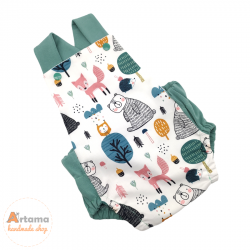forest animals baby romper