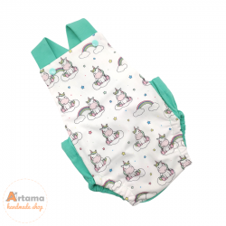 Unicorns baby romper