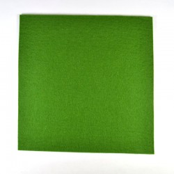 Dark green wool thick felt - 20x20cm