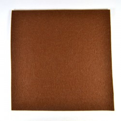 Brown wool thick felt - 20x20cm