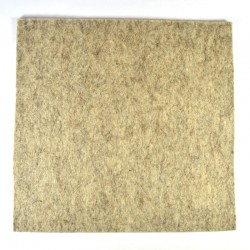 Marbled light brown wool thick felt - 20x20cm