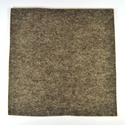 Marbled dark brown wool thick felt - 20x20cm