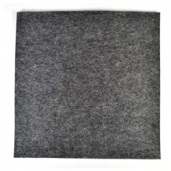 Marbled dark grey wool thick felt - 20x20cm