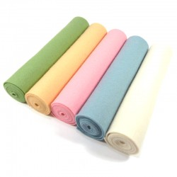 5 rolls pack of 100% wool felt light shades