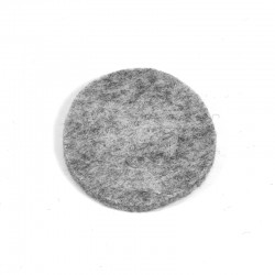3 Large Round - Marbled light grey