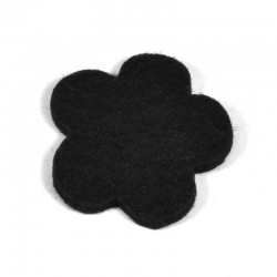 3 Large Flower - Black