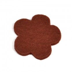 3 Large Flower - Brown