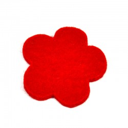 3 Large Flower - Red