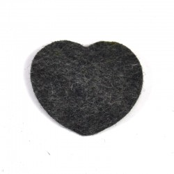 3 Large Heart - Marbled dark grey