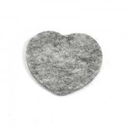 3 Large Heart - Marbled light grey