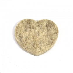 3 Large Heart - Marbled light brown