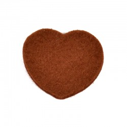 3 Large Heart - Brown