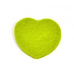 3 Large Heart - Light green