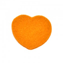 3 Large Heart - Orange