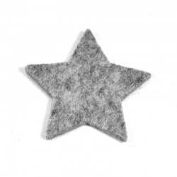3 Large Star - Marbled light grey