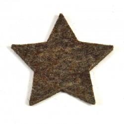 3 Large Star - Marbled dark brown