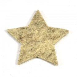 3 Large Star - Marbled light brown