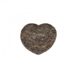 5 Medium Heart - Marbled dark brown