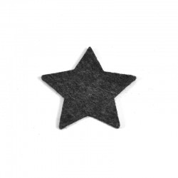 5 Medium Star - Marbled dark grey