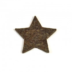 5 Medium Star - Marbled dark brown