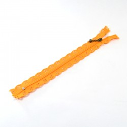 Zipper as lace - Orange - 20cm