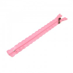 Zipper as lace - Light Pink - 20cm