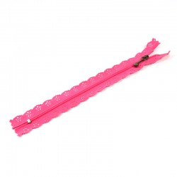 Zipper as lace - Pink - 20cm