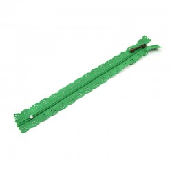 Zipper as lace - Green - 20cm